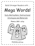 Multisyllabic AI/AY Phonics Activities {RTI and Common Cor