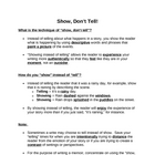 Memoir: Show, Dont Tell Guided Notes