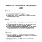 Memoir: The Polar Bear Sequencing Team Activity Paragraph Puzzle