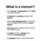 Memoir: What Is a Memoir Guided Notes