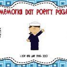 Memorial Day Acrostic Poetry Packet