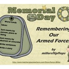 Memorial Day - Remembering Our Armed Forces - Word Card Freebie