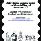 Memorial Day and September 11 Quilt Squares &amp; Hero Activities