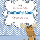 Memory Book EDITABLE MOOSE COVER End of Year K, 1, 2, 3, 4