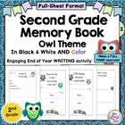 Memory Book Second Grade Owl Theme - Full page Great End o
