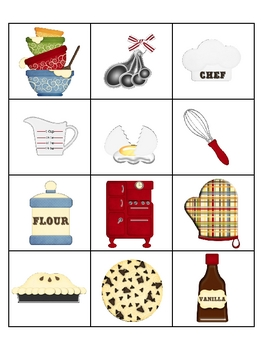 Memory Game Baking or Cafe Theme