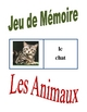 Memory Game with Animals in French (Can  be used for Flashcards)
