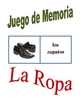 Memory Game with Clothing in Spanish (Can  be used for Fla
