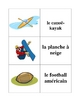 Memory Game with Sports in French (Can  be used for Flashcards)