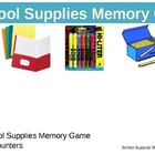 Memory: School Supplies