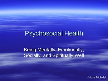 Mental Health PowerPoint Presentation Lesson Plan