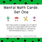 Mental Math Cards - Set One