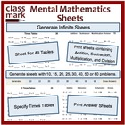 Mental Math Sheets