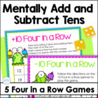 Mentally Adding &amp; Subtracting 10: Four in a Row Games