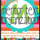 Mentor Text Organization {Reading Edition}