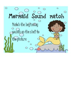 Mermaid beginning sound match