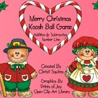Merry Christmas Addition & Subtraction Number Line Koosh B
