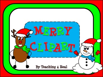 Merry Clipart: Christmas Snowmen and Reindeer