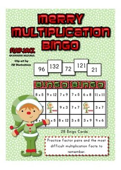 Merry Multiplication Bingo