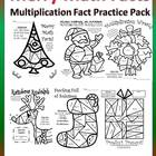 Merry Multiplication Facts-Color By Number Pack-Fun!!