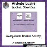 Mesopotamia Timeline Research & Report Activity Ancient Ri