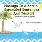 Message In A Bottle Scrambled Sentences and Capitals