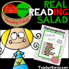 Metacognition Real Reading Salad Comprehension Strategy Activity