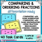 Methods for Comparing and Ordering Fractions Task Cards 3N