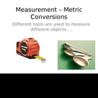 Metric Conversions Power Point