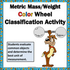 Metric Mass Weight Color Wheel Classification Activity Printable
