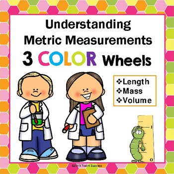 Metric Measurement Color Wheels Length, Mass, + Volume Printable