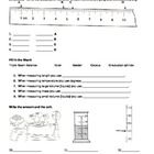 Metric Measurement Exit Slip