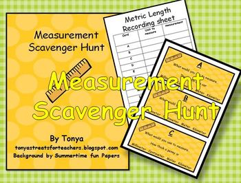 Metric Measurement Scavenger Hunt