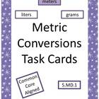 Metric Measurement Task Cards (5.MD.1)