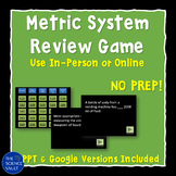 Metric System Powerpoint Jeopardy - Like Game, Metric Syst