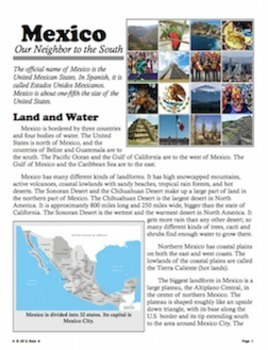 Mexico: Our Neighbor to the South