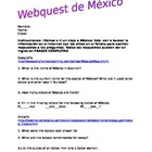Mexico Webquest