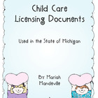 Michigan Childcare Center Licensing Documents