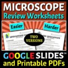 Microscope Parts - Review Worksheet