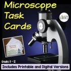 Microscope Task Cards, Grades 5-10, Set of 41 cards