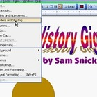 Microsoft Word History Poster Project, Video Tutorial 1