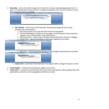 Microsoft Word How To & Notes