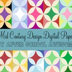 Mid Century Modern Digital Background Papers Seasonal & Pr