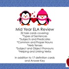 Mid Year ELA Review Task Cards (Penguin)