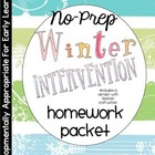 Mid-Year Homework Packet: Kindergarten