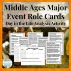 Middle Ages Role Cards Activity Cards on Key People and Events