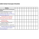 Middle School Concepts - Comprehensive Checklist