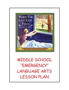 "Middle School ""Emergency"" Language Arts Lesson Plan"
