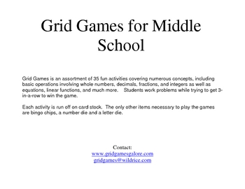 Middle School GridGames