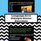 Middle School Language Arts Multiple Choice Review Questions